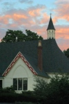 First Parish of Watertown at Sunset