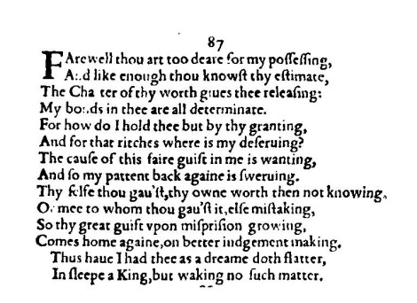 Sonnet 87 - All Lines Lead us to KING