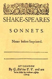 Title Page of the Sonnets of 1609