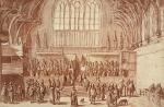 Westminster Hall,  a sketch circa 1620