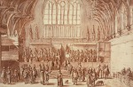 Westminster Hall,  a sketch circa 1620