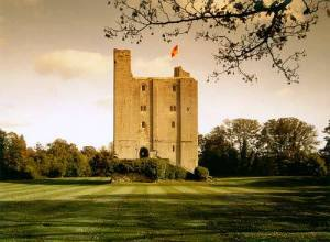 Castle Hedingham in Essex, England, birthplace of Edward de Vere, 17th Earl of Oxford