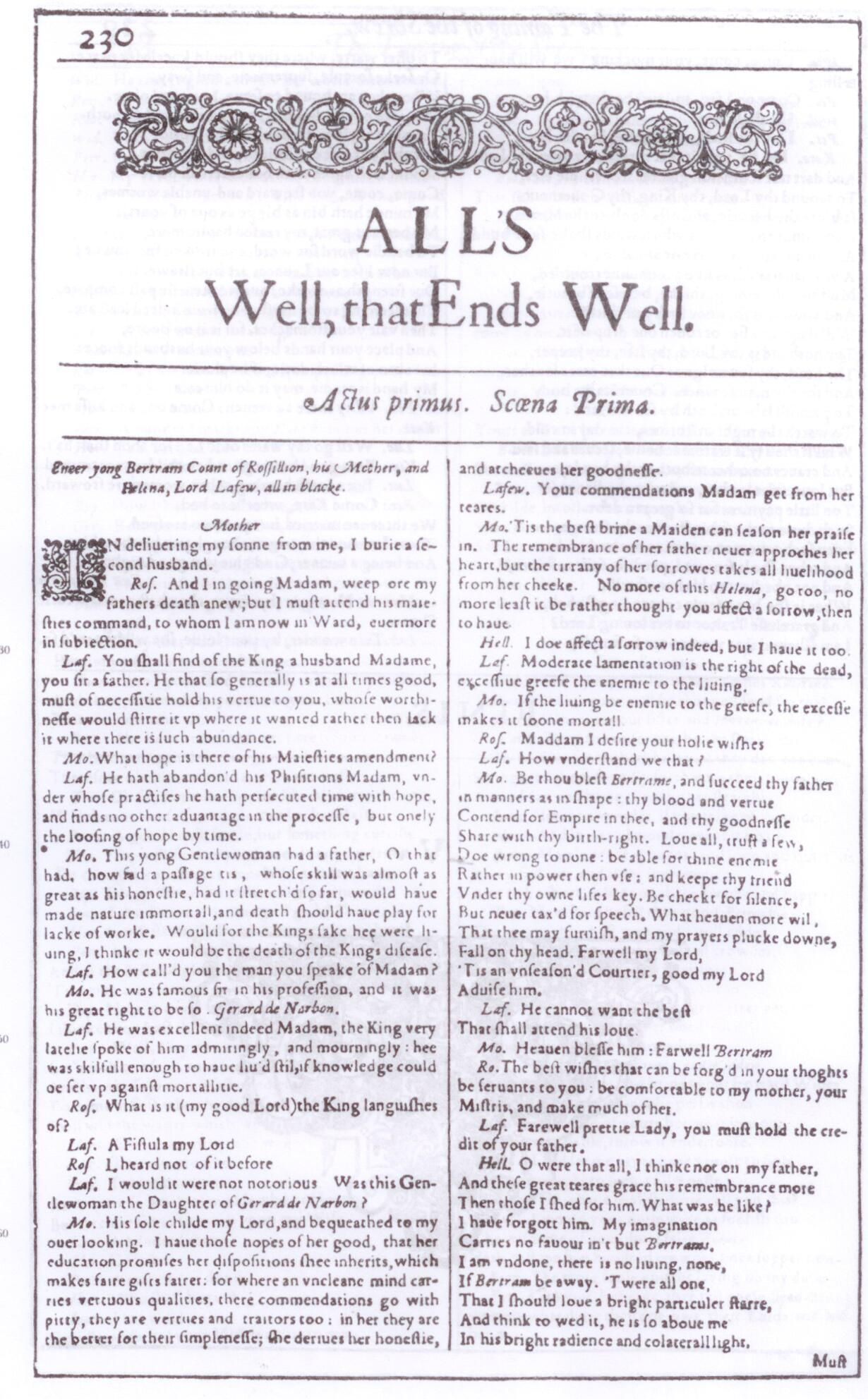 an analysis of alls well that ends well by william shakespeare The character of helena in all's well all's well that ends well by william shakespeare essay - in character analysis of helena in midsummer.