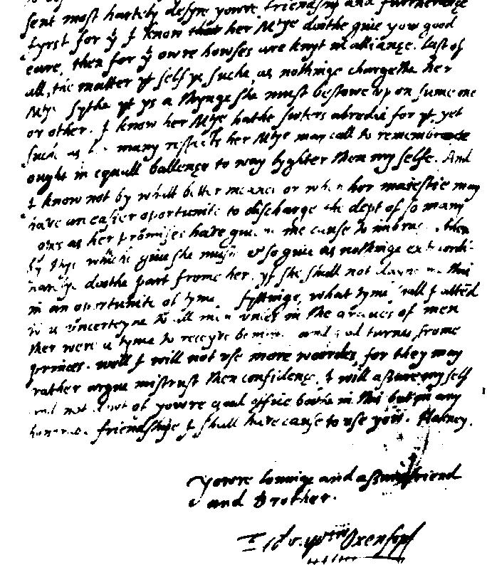 Edward de vere hank whittemores shakespeare blog part of an autograph letter spiritdancerdesigns Image collections