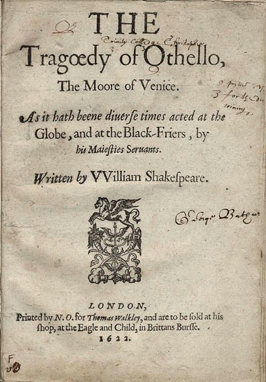 Analysis of Othello by William Shakespeare