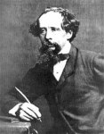 dickens with pen