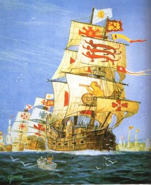 A ship of the Spanish armada, 1588