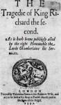 Richard II quarto 1597 no Shakespearename