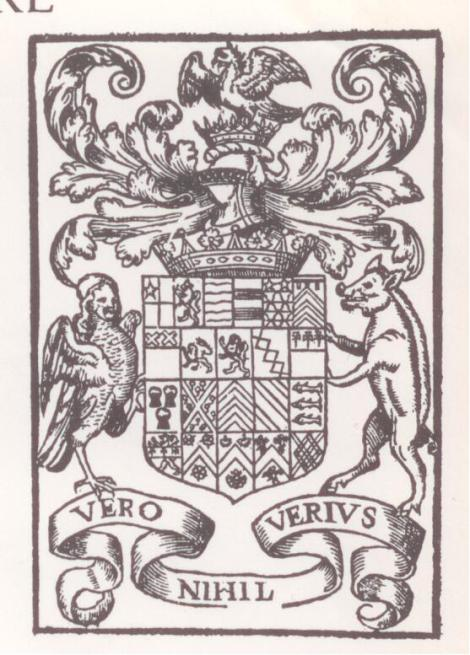 A coat-of arms used by Edward de Vere, the 17th Earl of Oxford