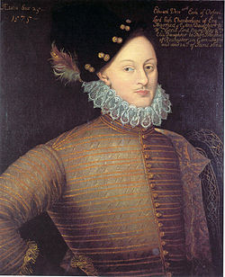 Edward de Vere, 17th Earl of Oxford, circa 1575 at age twenty-five