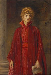 Kate Dolan as Portia Painter, J.F. Millais 1829-1896