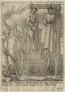 An engraving possibly of late 17th century of Campion and Briant executions
