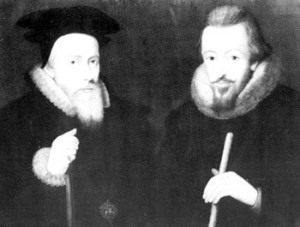 William Cecil Lord Burghley and his son Robert Cecil