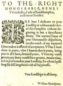 """""""Lucrece"""" Dedication 1594"""