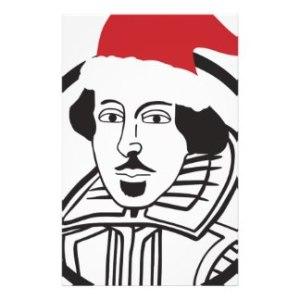 shakespeare as Santa