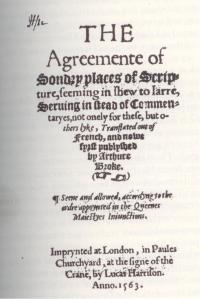 """Agreement of Sondry Places"" by Arthur Brooke, 1563"