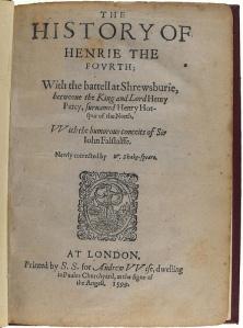 1 Henry IV 1599