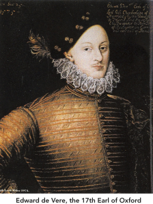 Edward de Vere 17th Earl of Oxford