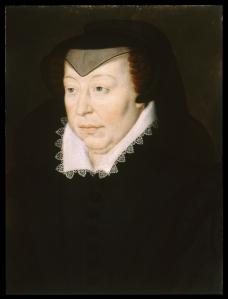 Catherine de' Medici  1519 - 1589  (Portrait by Francois Clouet, 1515 - 1572)