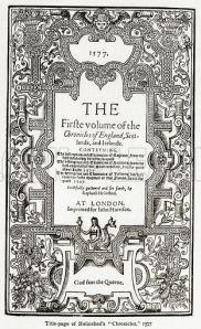 "Holinshed's ""Chronicles"" 1577"