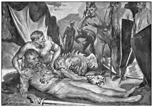 The Death of Beowulf (with friend Wiglaf)