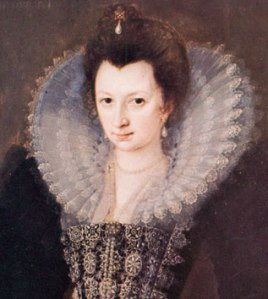 Elizabeth de Vere, Daughter of Edward de Vere and Anne Cecil, born in 1575  (Countess of Derby as of 1595)