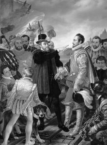 Philip II of Spain berating William the Silent, Prince of Orange