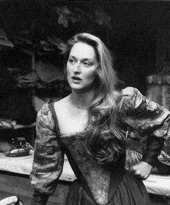 Meryl Streep as Kate the Shrew in the Outdoor Delacourte Theatre - Central Park, NY - 1978