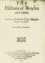 Troilus and Cressida First Title Page - 1609 (Replaced by another title page during the print run.)