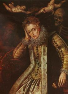 An allegorical portrait of Elizabeth I painted after 1620