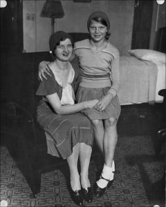 Nan Britton, mistress of the 29th president, with daughter Elizabeth Ann Britton (1931)
