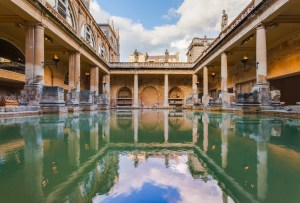 Roman Bath at the City of Bath, England