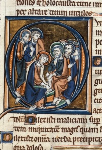 Christ washing the feet of disciples